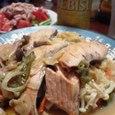 鮭とホタテのちゃんちゃん焼き