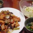 酢豚&ジャガイモとレタスの明太子マヨサラダ