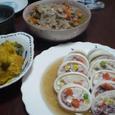 イカのけんちん蒸し&野菜のそぼろ炒め煮