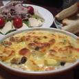 エビ・ホタテと青梗菜のグラタン