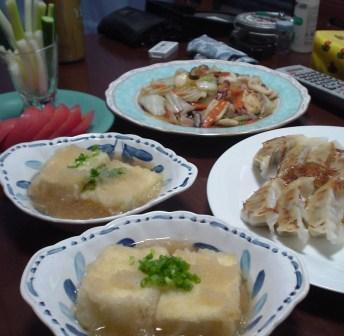八宝菜&揚げだし豆腐